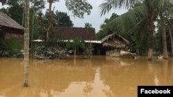 Một cảnh lũ lụt ở Hà Tĩnh. Hình minh họa.