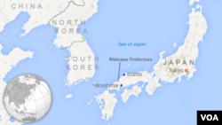Peta wilayah pesisir Shimane, Jepang (Foto: dok).