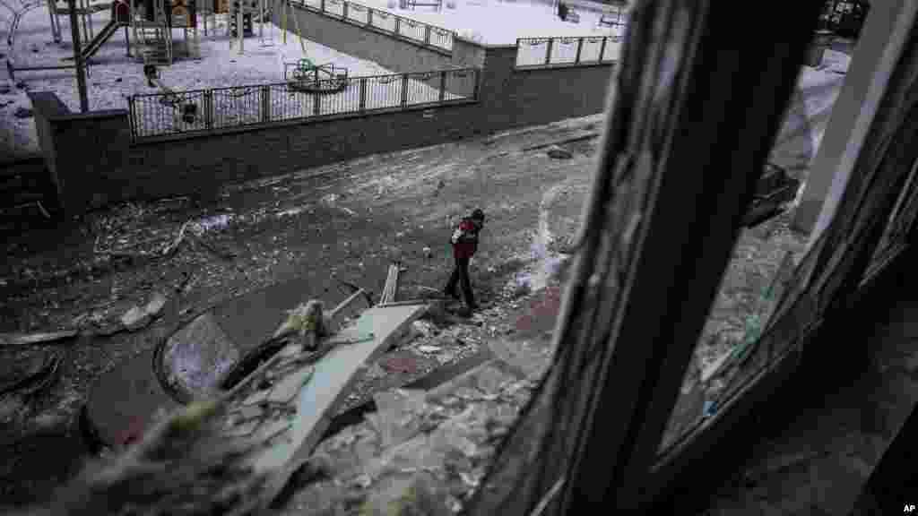 Garin Donetsk a Ukraine, Janairu 19, 2015