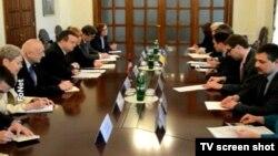 Srpski šef diplomatije, Ivica Dačić na sastanku u Kijevu, 23. decembar 2014.