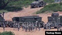 Američki vojnici koji učestvuju u vojnoj vežbi sa Južnom Korejom