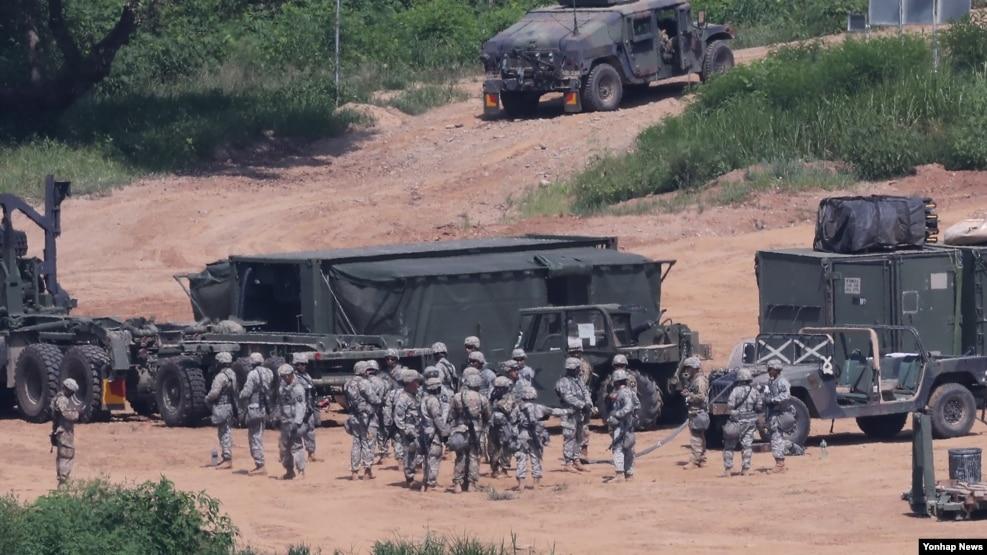 Binh sĩ Mỹ tham gia một cuộc tập trận ở Paju, Hàn Quốc, 22/8/2016.