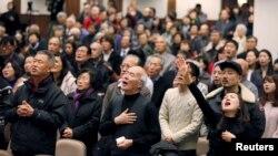 임현수 목사가 담임으로 있는 캐나다 큰빛교회가 지난해 12월 임 목사의 석방을 기원하는 기도회를 개최했다. 임 목사의 아내 임금영 씨는 지난 19일 임 목사가 담임으로 있는 캐나다 토론토 큰빛교회 신도들에게 공개 편지를 보냈습다. (자료사진)