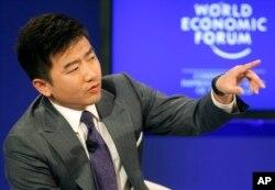 2011年1月芮成钢在达沃斯世界经济论坛会议上