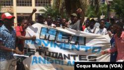 Estudantes manifestam-se no Zango. Luanda, Angola