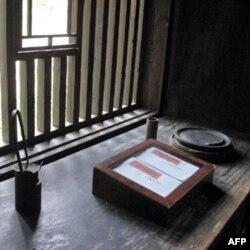 八角楼内毛泽东的书桌