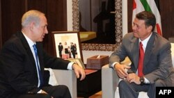 Thủ tướng Benjamin Netanyahu hội đàm với vua Jordan Abdullah II tại Amman, 27/7/2010