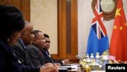 斐濟外交部代表團2019年6月訪問北京(路透社 )