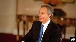 عکس آرشیوی از تونی بلر نخست وزیر پیشین بریتانیا