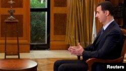 叙利亚总统阿萨德在大马士革接受媒体采访 (资料图片)