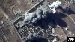 Foto udara serangan udara yang dilakukan Rusia terhadap sasaran pemberontak di Suriah (foto: dok).