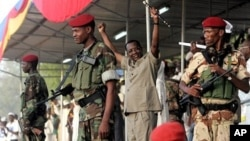 Le président tchadien Idriss Deby lors de la campagne électorale en 2011 à N'djamena.