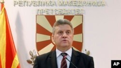 FILE - Macedonian President Gjorge Ivanov.