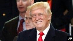 Le président Donald Trump à Washington, 20 janvier 2017.