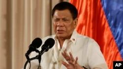 菲律賓總統杜特爾特資料照。