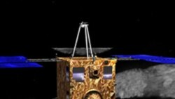 سفینه فضایی ژاپن برای نخستين بار قطعاتی از یک سیارک را جمع آوری کرده است