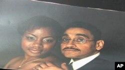 Osserritta Robinson (L) and her late husband