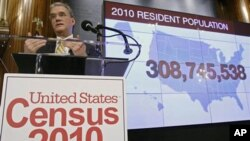 FILE - Census Bureau Director Robert Groves announces results for the 2010 U.S. Census. A group of Latino and African diaspora community leaders in New York are working toward possible changes to the 2020 questionnaire.