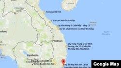 Vị trí dự án Hoa Sen Cà Ná trên bản đồ