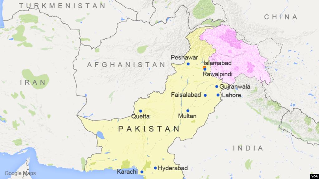Pakistan Kills Six In Raid Of Suspected Taliban Faction Hideout - Major cities of pakistan map