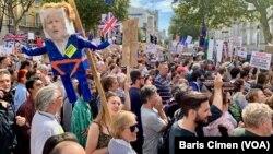 2019年8月31日倫敦人抗議首相鮑里斯·約翰遜決定暫停議會。