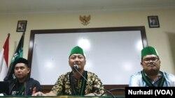 PB HMI juga mengkritisi kondisi terkini dengan sejumlah tuntutan. (Foto:Terkini.com/ Nurhadi)