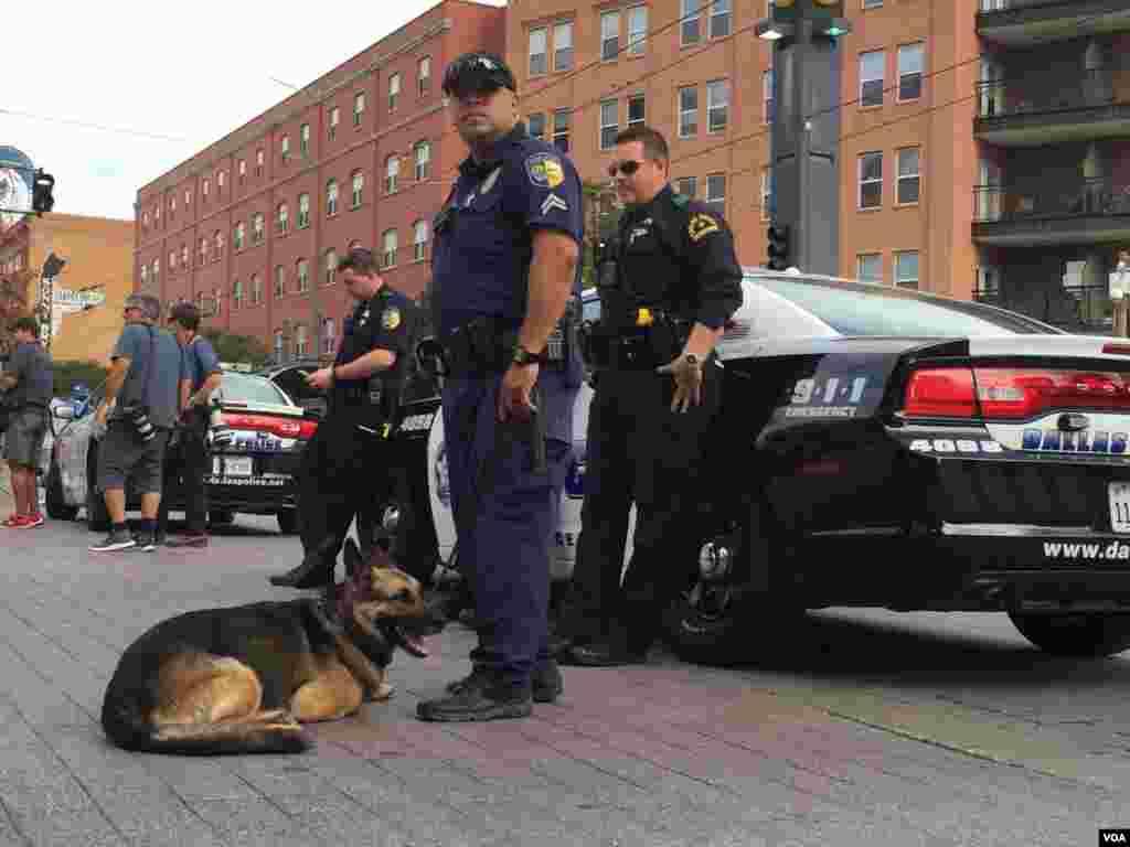 Brian Howard Jackson en noviembre de 2005, y Christopher Kevin James en noviembre de 2001. Eran los únicos policías de Dallas asesinados en lo que va del siglo, hasta el ataque del 7 de julio.