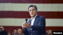 Mitt Romney yake yakin neman zabe a Youngstown, jihar Ohio.