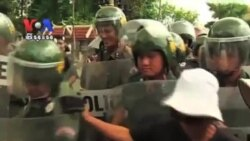 Housing Activists Clash With Police in Street Protest