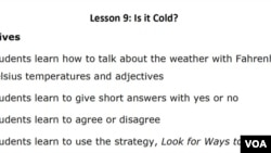 Lesson Plan - Let's Learn English Lesson 9