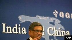 Министр иностранных дел Индии С.М. Кришна выступает в Институте стратегических исследований в Пекине. КНР. 6 апреля 2010 года