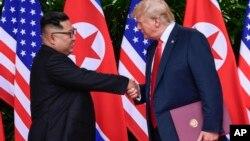Президент США Дональд Трамп и лидер Северной Кореи Ким Чен Ын (архивное фото)