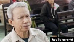 Ông Ngô Hào tại phiên tòa phúc thẩm tháng 12/2013. Photo SGGP.