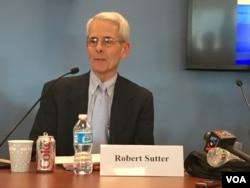 乔治华盛顿大学外交事务实践教授沙特 (美国之音钟辰芳拍摄)