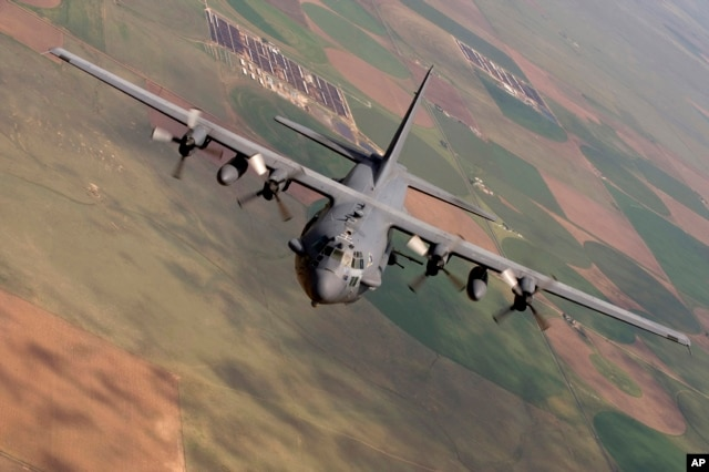 FILE - A U.S. AC-130 gunship like the one pictured fired the shells at the hospital.