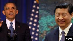 Tổng thống Mỹ Barack Obama và Chủ tịch Trung Quốc Tập Cận Bình