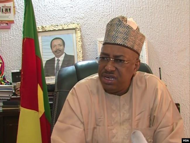 Midjiyawa Bakari, governor of the far north region of Cameroon in his office in Maroua, Maroua, Cameroon, April 7, 2019. (M. Kindzeka/VOA)