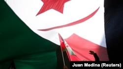 Manifestation de soutien à l'indépendance du Sahara occidental, à Madrid le 16 novembre 2014