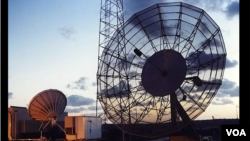 Voice of America's satellite dishes in Washington, D.C.
