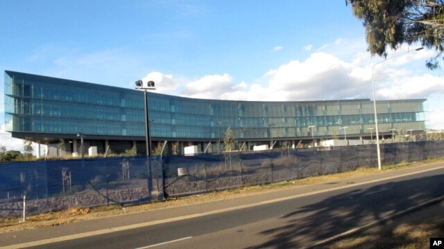 The Australian Security Intelligence Organization's new headquarters is nearing completion  in Canberra, Australia, May 28, 2013.