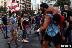 Протесты в центре Бейрута