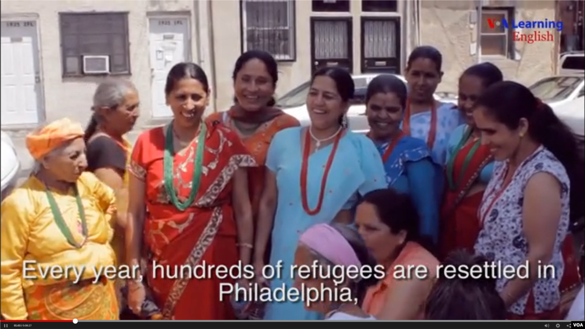 Center Helps Refugees with American Life