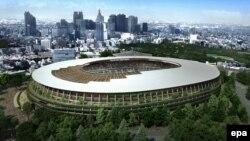 نمای ستدیوم مرکزی المپیک ۲۰۲۰ توکیو