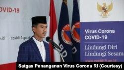 Sekretaris Komisi Fatwa MUI, M Asrorun Ni'am dalam konferensi di Kantor BNPB Indonesia, Jakarta, Sabtu, 4 April 2020. (Foto: Satgas Penanganan Virus Corona RI)