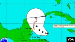 Rina ya tiene vientos máximos sostenidos de 175 kilómetros por hora. .