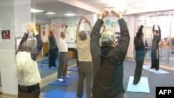 Buổi sinh hoạt thể dục sáng thứ Bảy 26 tháng 3 tại Trung tâm Cộng đồng Do Thái quận Fairfax, miền bắc Virginia