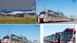 """Azərbaycan Hava Yolları"""" QSC (AZAL), """"Azərbaycan Dəmir Yolları"""" QSC, """"Bakı Metropoliteni"""" QSC və """"BakuBus"""" MMC"""