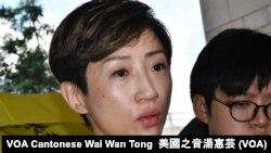 公民黨立法會議員陳淑莊被證實患腦膜瘤,她形容比乒乓球大,獲准押後判刑 (攝影﹕ 美國之音湯惠芸)