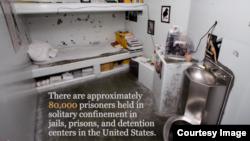 单独监禁牢房 (Center for Constitutional Rights视频截图)