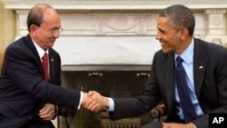 صدر اوباما اور صدر تھیان سین وائٹ ہاؤس ملاقات کے دوران